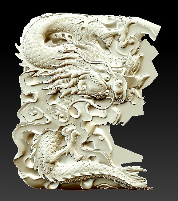 3D Model Relief For Cnc In STL File Format Small Dragon