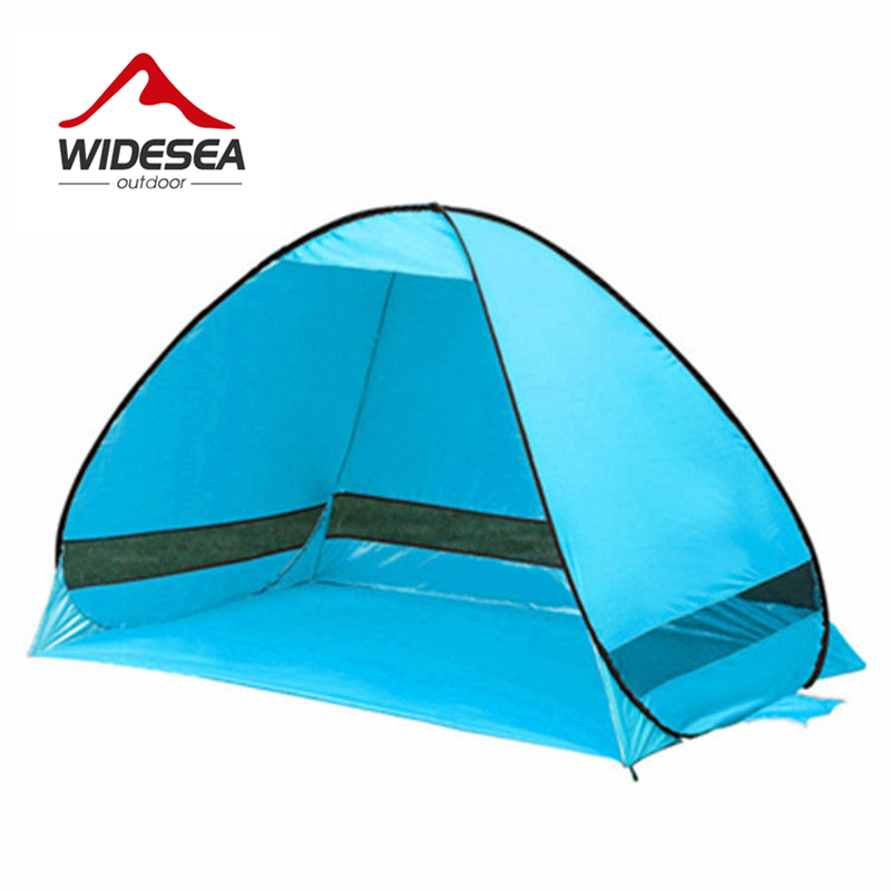 WIDESEA beach tent 3 4 person 5colors pop up open sunshelter quick automatic 170T polyester UV
