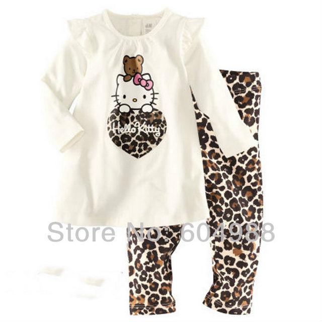 free shipping baby pajamas 2pc set children cotton long sleeve pjs kids girls pajama underwear sleepwear clothes