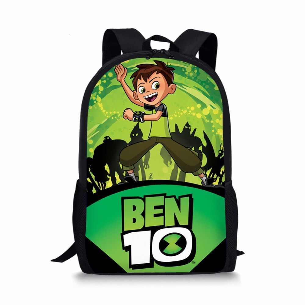 7b1ad623c252 ... Мультфильм BEN 10 школьные сумки рюкзак ранцы для мальчиков и девочек  ортопедические packbag mochila escolar bookBag ...