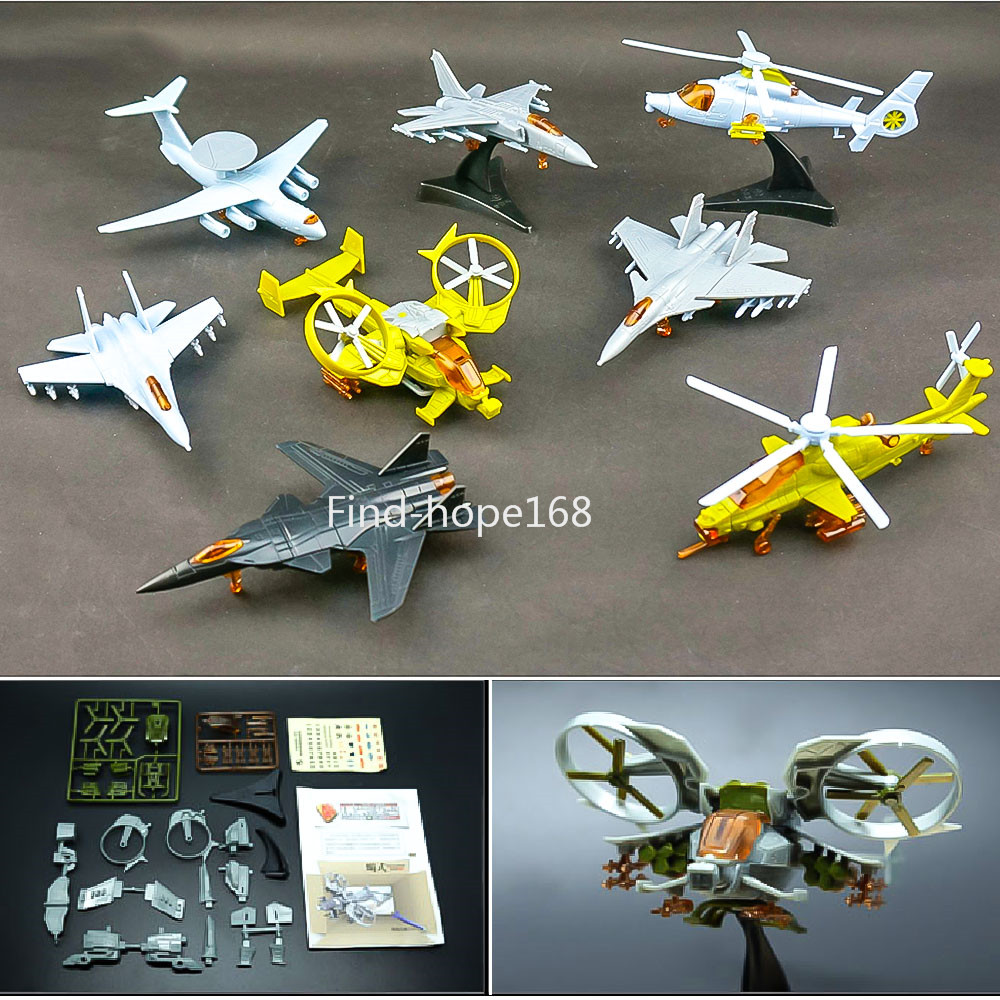 4D Various Helicopter Aircraft Plane Assembly Model Puzzle Building Figure Action 1:165