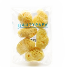 Beautypapa 6pcs/set Natural Greek FINA SILK Sea Sponge Makeup Removal Sponge 1.5''- 2.0''-Random Shape Beauty Make up Remover