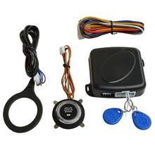 Sistema Inmovilizador RFID vehículo de doble capa de protección de arranque con Botón Pulsador de Arranque Del Motor Del Coche RFID cerradura Oculta keyless go