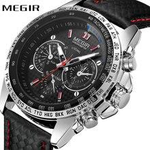 Top Brand Luxury MEGIR Casual Sports Watch Men Quartz Clock 3D Bolt Index Chronograph Military Fashion Waterproof Wrist Watches