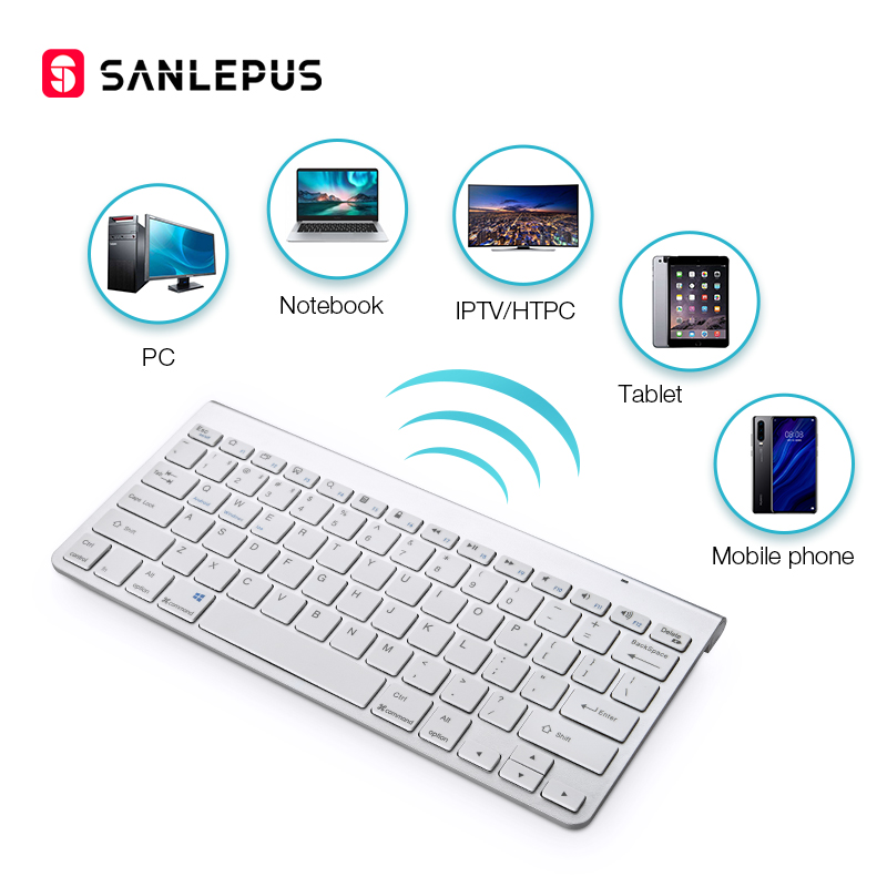 SANLEPUS Ultra-Slim Bluetooth Keyboard Wireless Computer Keyboard Mini For Phone Tablet Laptop IPad IPhone Samsung IOS Android(China)