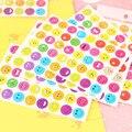 10 Folhas/set Bonito Emoji Sorriso Rosto Etiqueta, incentivar as crianças do jardim de infância de parede iphone etiquetas da etiqueta do decalque mural decoração carta