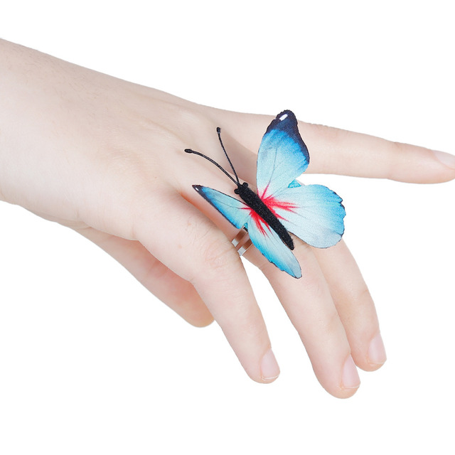New Fashion Adjustable Butterfly Rings for Women