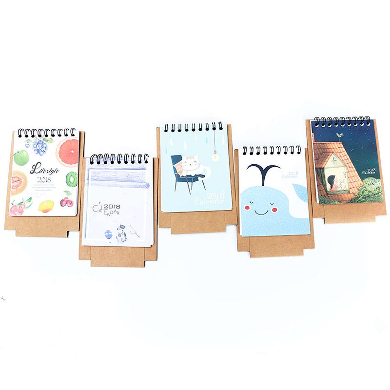 19*8.3cm Creative Desk Standing Paper Multifunction Organizer Schedule Planner Notebook 2018 Year New Kawaii Cartoon Calendar Calendars, Planners & Cards Office & School Supplies