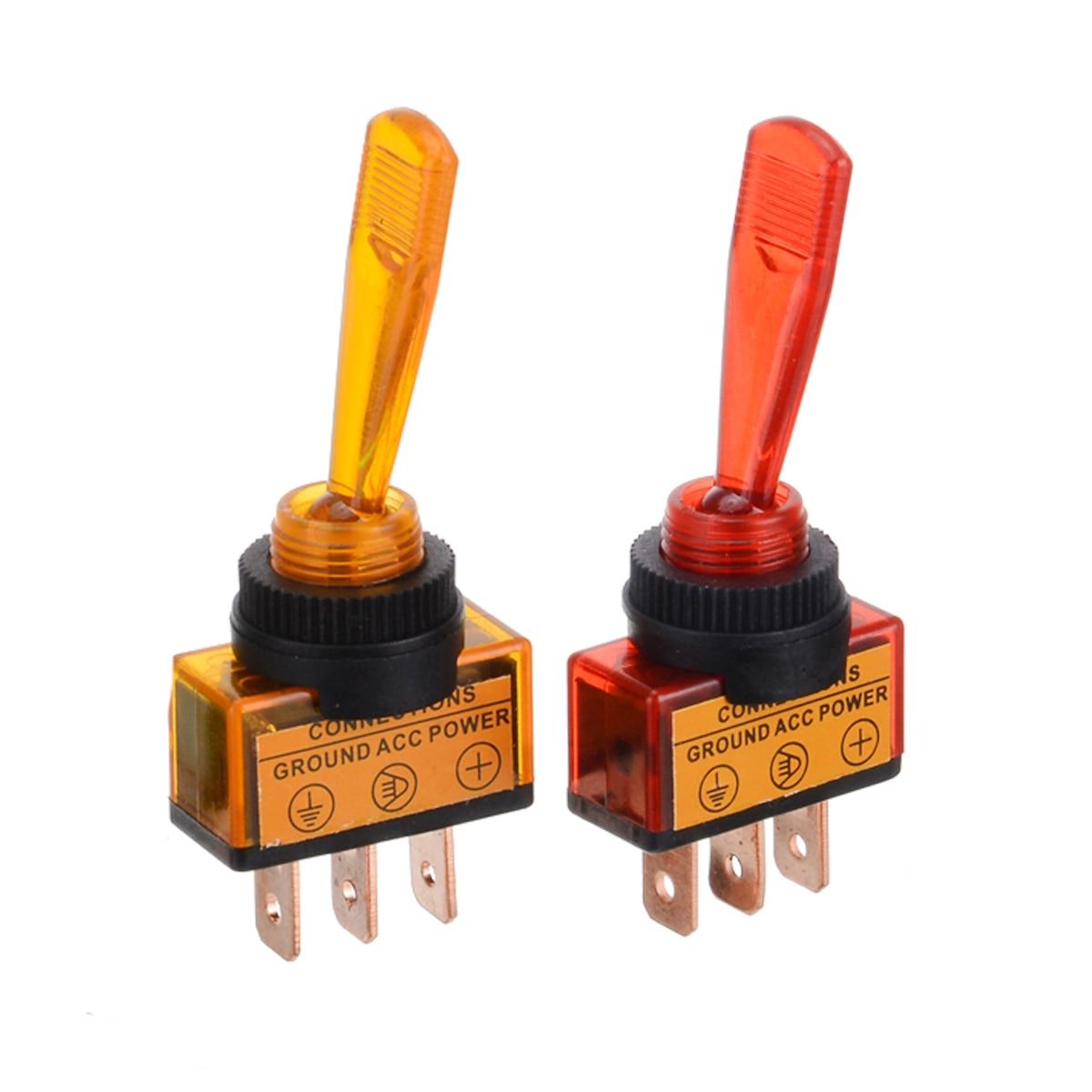 Hot Sale 4Pcs/set Rocker Switch Toggle Rocker Switch 3 Pin On/Off SPST DC 12V 20A Rocker Switches For Car Boat Truck
