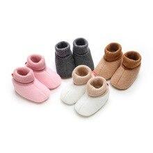 New Newborn Knitted Flock Pre-walker Shoes Baby Shoe 2018 Wi