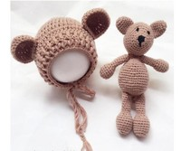 Noel Şapka Bezi Set Yeni Doğmuş Bebek Bira Baba Fotoğraf Dikmeler Bebek bebek Tığ Fotoğraf Çekimi için bebek şapka Bebek Şapka Şort Set