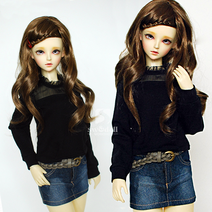 Sweetie Semi-Yarn Shirt For BJD Girl 1/4 MSD,1/3 SD10/13 LUTS.AS.DZ SD Doll Clothes CWB79 new handsome fashion stripe black gray coat pants uncle 1 3 1 4 boy sd10 girl bjd doll sd msd clothes