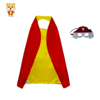 24 set superhero+ 24 set paws Special 70*70 cm kids costume paw cape mask costumes children animal toys superhero party gifts