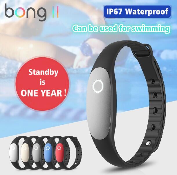 Bong de 2 inteligente sports pulseira Bong II impermeável pedômetro aptidão Wearable rastreador Bluetooth pulseiras