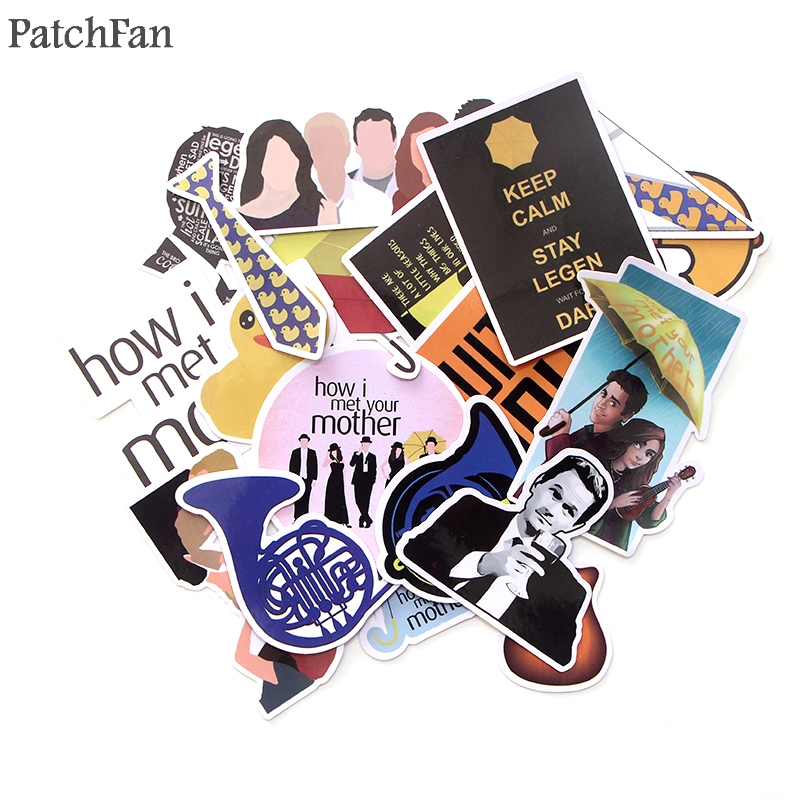 Patchfan 20pcs How i met your mother 90s decals scrapbooking Kids Toy for DIY phone Laptop Motorcycle Waterproof Stickers A1719|Stickers| |  - title=