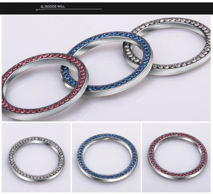B7 Gum Aluminum Ring For Light Switch Aluminum Ring for Audi A4