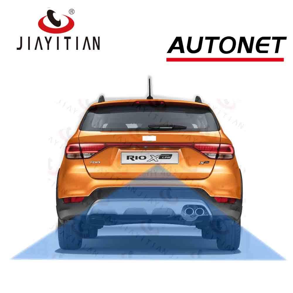 JIAYITIAN DIY Rear View Camera For Kia Rio X-Line X Line 2017 2018 2019 License Plate Housing Kit Lights Bracket  Backup Camera