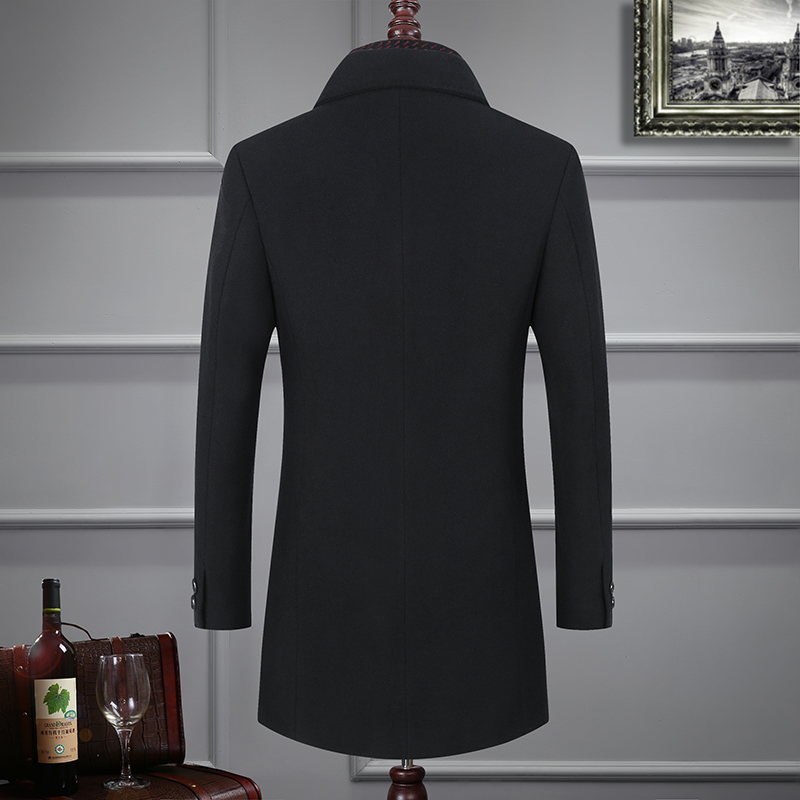BATMO 2019 new arrival winter high quality wool thicked trench coat men,men's gray wool jackets ,plus-size M-6XL,1828