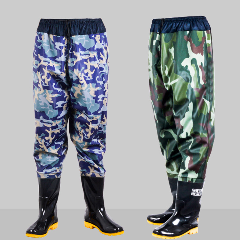 2017 asker winter water bots men winterforest camouflage  fishing boots rubber rainboots for Men antiskid rubber boots galoshes
