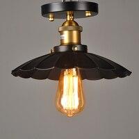 Dispositivo elétrico Da Lâmpada Do Teto da cozinha retro Loft Edison Vintage abajures de teto luzes luz do corredor Do Corredor de metal simples