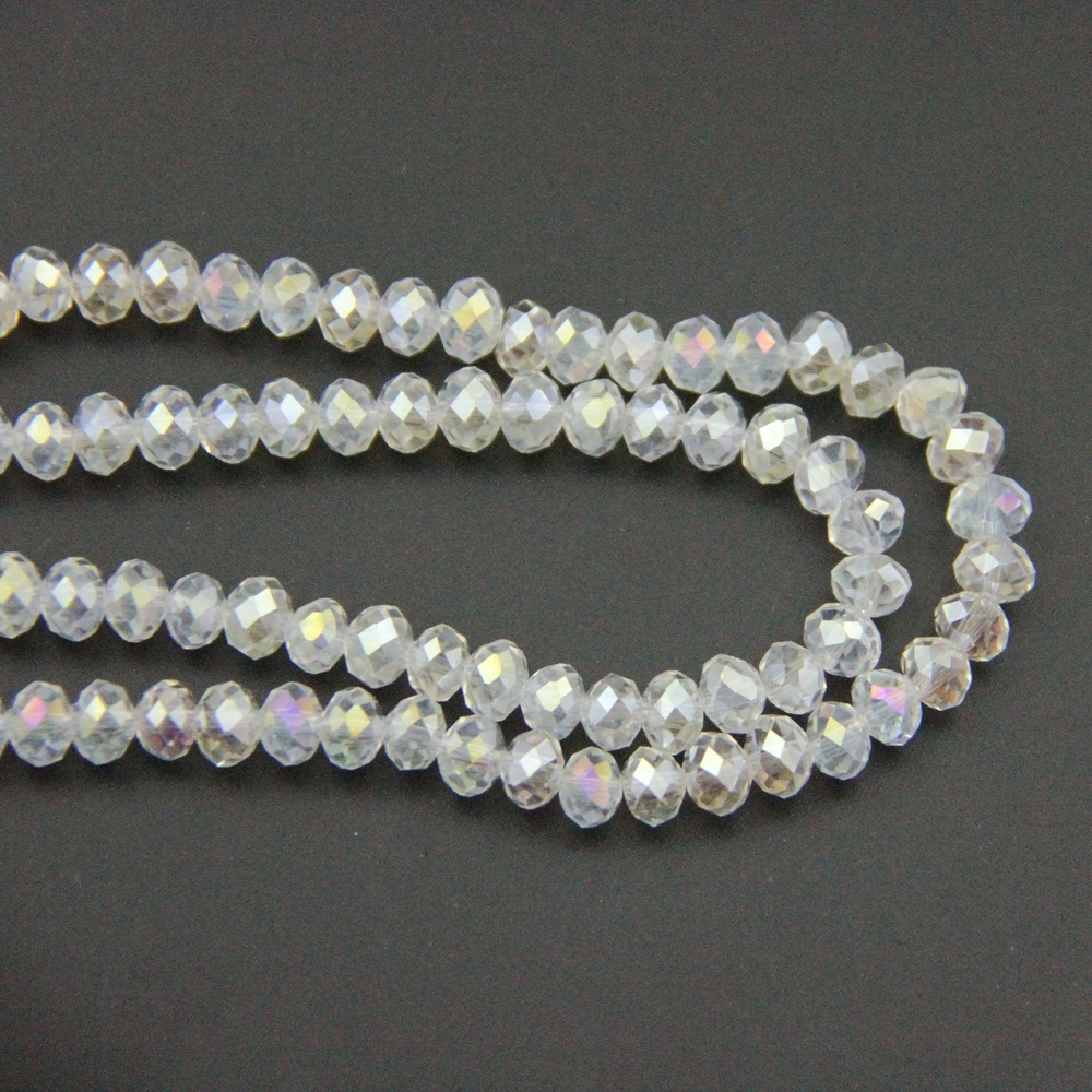 DIY Clear AB 2X3mm/3X4mm Crystal Rondelle Ball Beads Glass Ball For - Arts, Crafts and Sewing