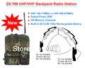 Midland 30 W 100CH VHF/UHF Estación de Radio de Mochila/Transceptor Móvil con Una Función de Batería Recargable 10Ah para La Policía, Tourisim
