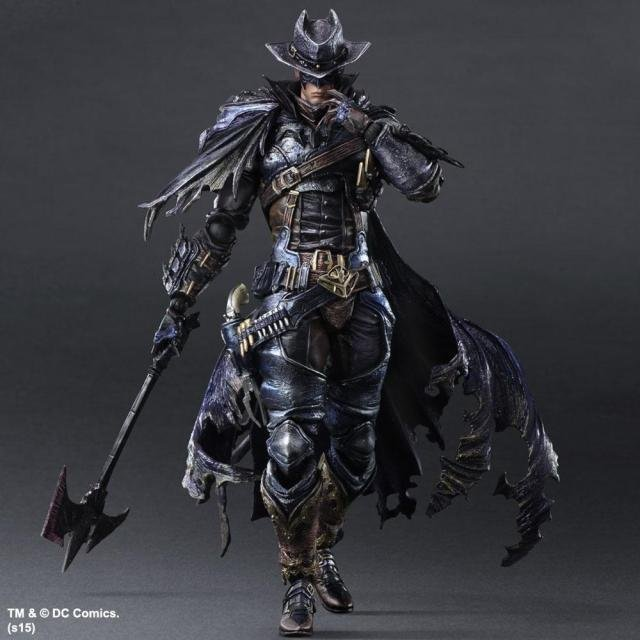 MODEL FANS West Cowboy Batman Play Arts Kai Action Figure PVC Toys 270mm Anime Movie Model West Cowboy Bat Man Playarts Kai gogues gallery two face batman figure batman play arts kai play art kai pvc action figure bat man bruce wayne 26cm doll toy