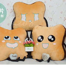 Yesfeier 50cm 1 piece Cute Bread Plush Toys  Expression Bread cloth doll pillow Cushion stuffed plush doll