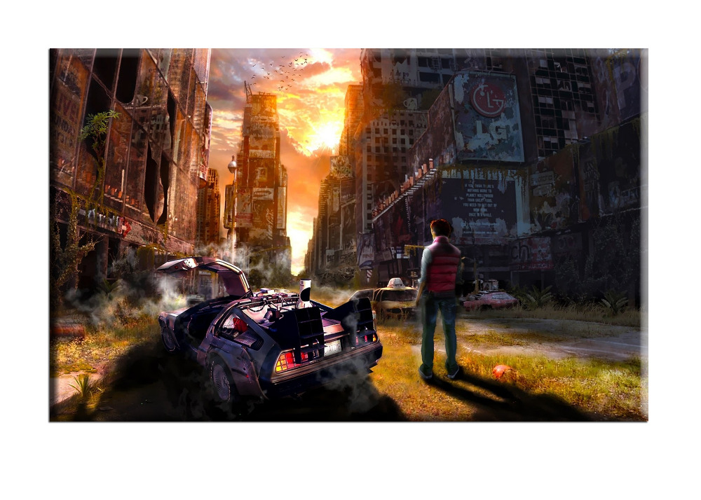 Frameless Picture Cuadros Precious Back To The Future Printed Canvas Oil Painting Home Decoration Wall Paintings for Living Room