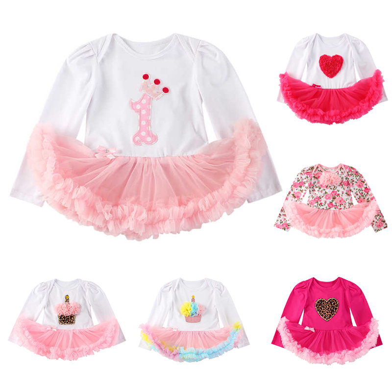 Newborn Baby Girl Clothes Cake 1st Birthday Clothing Tutu Romper Roupas Infantis Bebes Menina Infant 0-2T Baby Christmas Outfits 1 year tutu baby girl clothing sets infant romper tulle skirt headband kids party costume bebes one birthday outfits vestidos