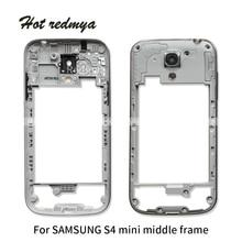 3a05b13a375 10 piezas medio marco para Samsung Galaxy S4 mini medio placa vivienda  chasis bisel de reparación de la parte-de plata envío gra.