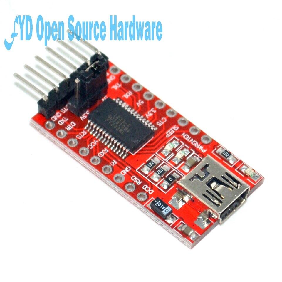 Cabo adaptador de serial ft232rl ft232 ftdi usb to ttl 3.3v 5.5v, módulo de download para mini porta