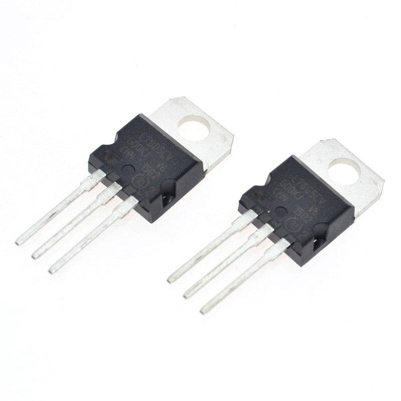 10 шт. L7805CV LM7805 L7805 7805 регулятор напряжения IC 5 V 1.5A TO-220 Сделано в Китае