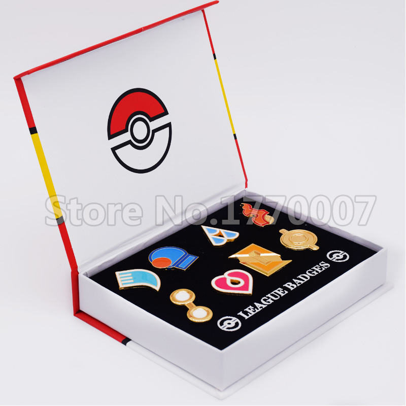 Pokemon Gym Badges Hoenn Region League Pins Brooches 8pcs New in Box Collection Gift