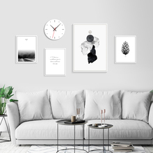Black And White Painting Nordic Poster Minimalist Print Quotes Posters Prints Abstract Wall Art Canvas Girl Unframed