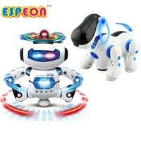 新しいスマートスペースダンスロボット犬電子ウォーキングおもちゃで音楽ライトクリスマス新年のギフト子供のための宇宙飛行士のおもちゃに子