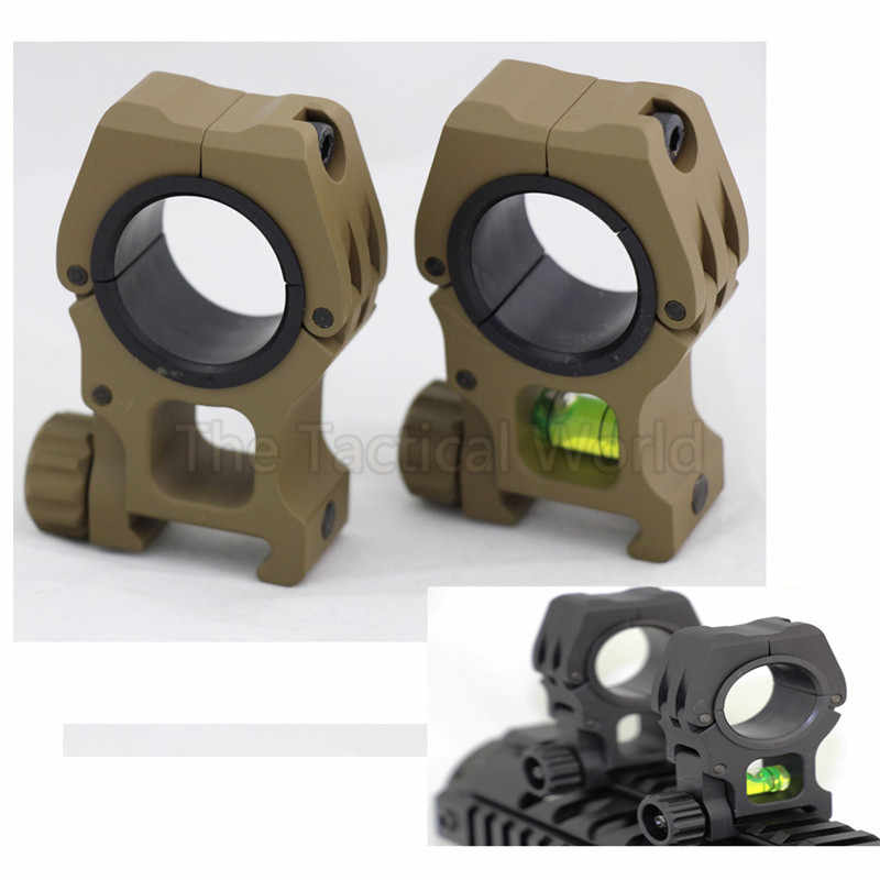 Tactical Hunting Accessories 25.4mm/30mm Common Use Bubble Level for 20mm Rail Mount Picatinny Airsoft Combat Rifle Scope Mount
