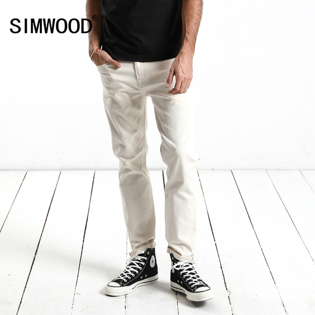 SIMWOOD Brand Jeans 2018 Spring New Jeans Men Slim Fit Fashion Denim Trousers Plus Size Casual Long Pants High Quality 180079