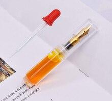 Moonman Wancai 透明白ポータブルミニヤシショート万年筆、旅行インクペンイリジウム EF/F Nib ファッション書き込みギフトセット