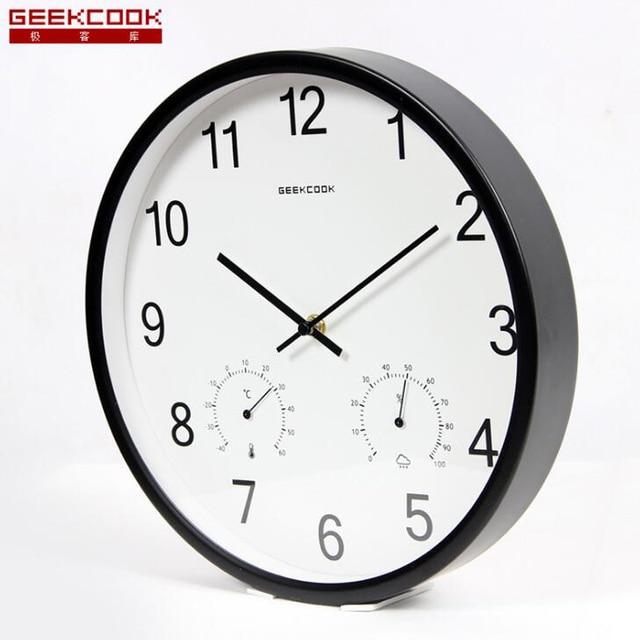 Aliexpresscom Buy Large 12 inch Metal Wall Clock Silent