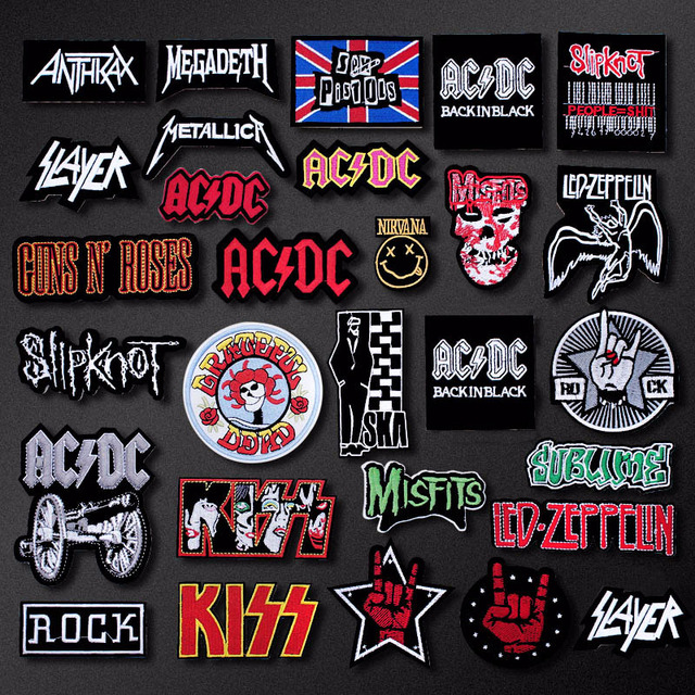 BAND ROCK Music Patch Badges Embroidered for Clothes