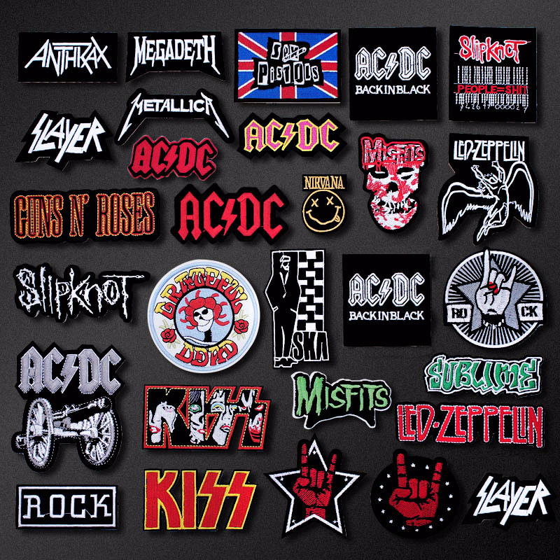 Band Rock Music Patch Badges Embroidered Applique Sewing Iron On Badge Clothes Garment Apparel Accessories