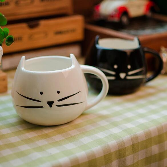 1Pcs Novelty Cute Cat Animal Milk Mug Ceramic Creative Coffee Porcelain Tea Cup Nice Gifts