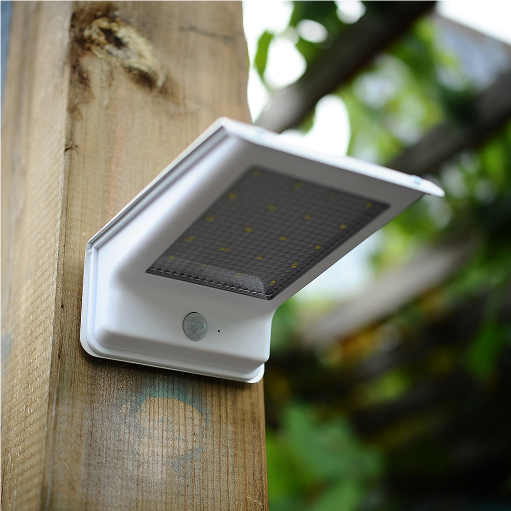 20 LED Motion Sensor Light Waterproof Solar Powered Lamp Wall Mount Lamp Night Light for Outdoor Garden Patio Path Gutter Fence 3pcs high quality 16 led solar powered light outdoor waterproof solar lamp with motion sensor street wall emergency lamp