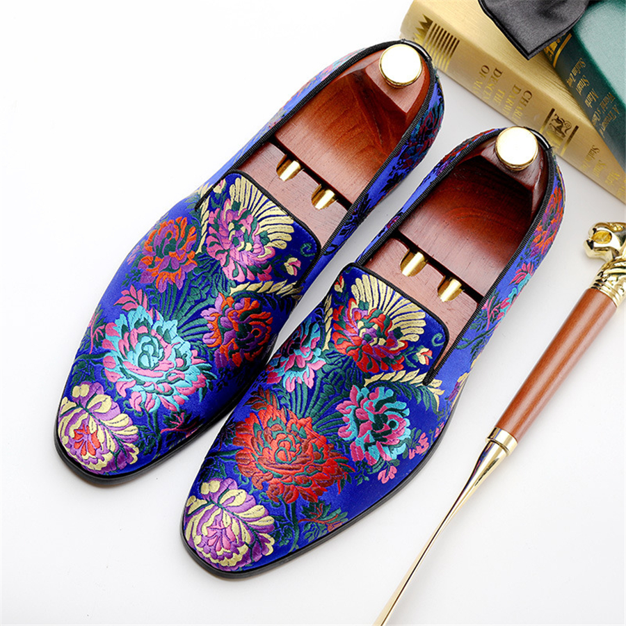 Genuine cow leather brogue Wedding banquet shoes mens casual flats shoes vintage handmade oxford shoes for men black blue 2019Genuine cow leather brogue Wedding banquet shoes mens casual flats shoes vintage handmade oxford shoes for men black blue 2019