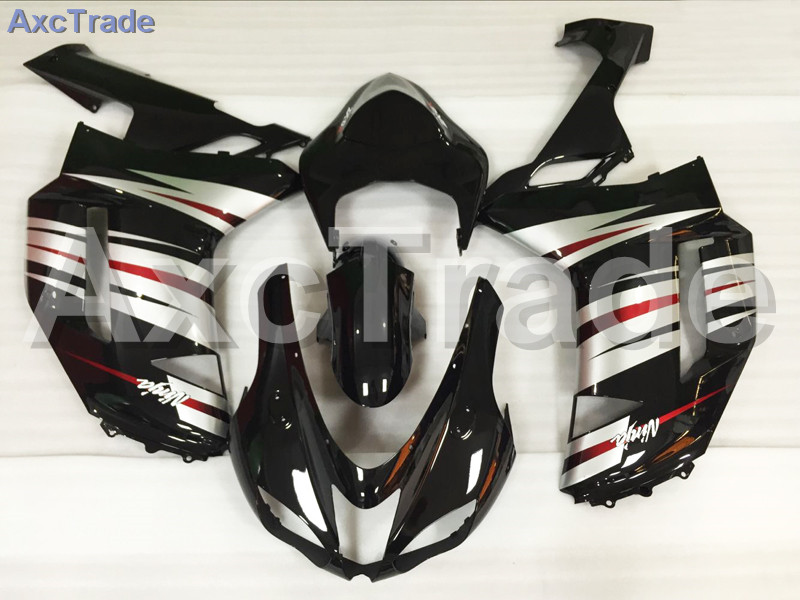 Motorcycle Fairings Kits For Kawasaki Ninja ZX6R 636 ZX-6R 2007 2008 07 08 ABS Plastic Injection Fairing Bodywork Kit Black A810 abs full fairing kit for kawasaki zx10r 2006 2007 red flames in black plastic fairings set ninja zx 10r 06 07 body kits zs26