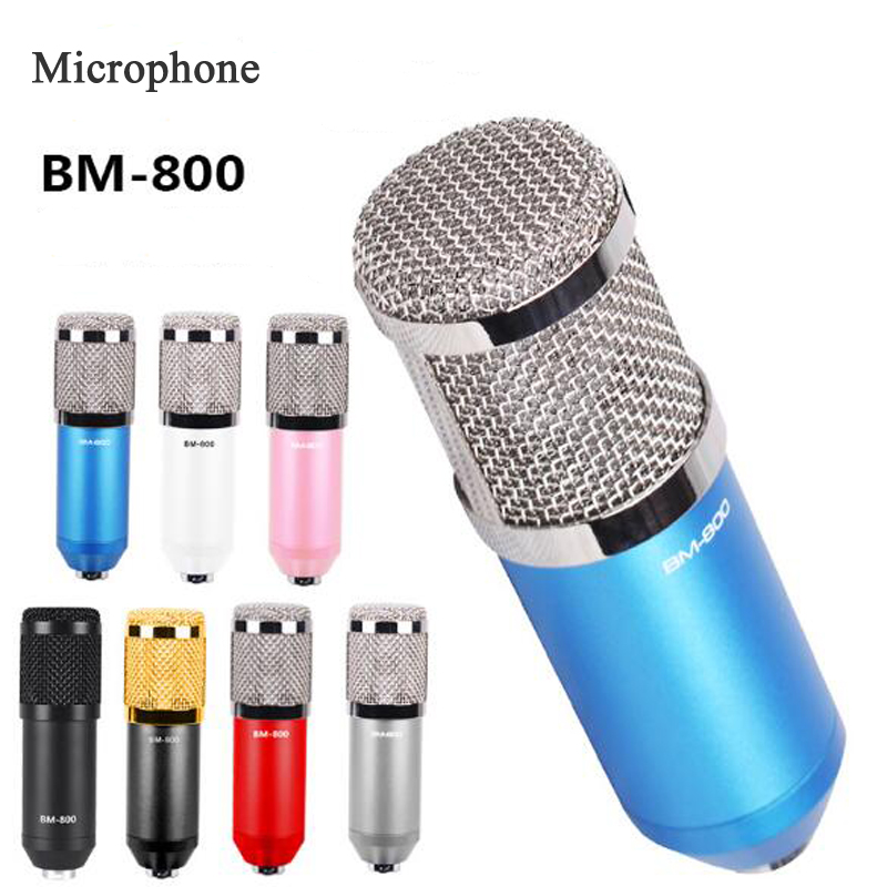 BM 800 Microphone, Large Diaphragm Condenser Computer Karaoke Microphone, Artifact Anchor Sound Card Recording Microphone felyby professional live condenser microphone for computer and phone bm 800 karaoke microphone multi function live sound card