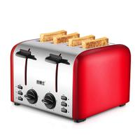 4 sheet Home Automatic Toaster Driver Breakfast Machine Stainless Steel Heating Bread Machine 36 * 17.5 * 17.6cm Bread Machine