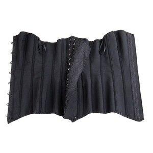 Image 5 - 여자 steampunk 강철 overbust 긴 몸통 모래 시계 코르셋 bustier 허리 cincher corselet shapewear 플러스 크기 S 6XL