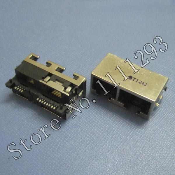 10 шт./лот Lan портом Jack для разъема/модем Порты и разъёмы для Asus F83vf X88v материнская плата и т. д. ноутбука RJ11 4pin + RJ45 8pin